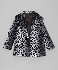 With plush faux fur construction, glam animal print and a trusty two-button closure, this coat proves that comfort and style can go hand in hand.