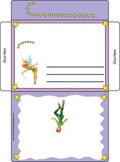 Tinker Bell Letter Envelope, Tinker Bell & Peter Pan, Invitations - Free Printable Ideas from Family Shoppingbag.com