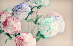 DIY Tissue Flowers | Great kid's craft idea for mother's day.