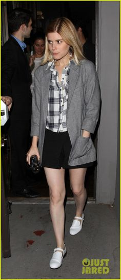 Kate Mara shows off her long legs in a cute skirt as she leaves Crossroads on Saturday night (June 14) in West Hollywood, Calif.