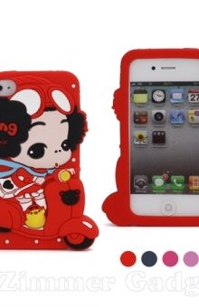 DDUNG Lovely 3D Motor Girl Soft Silicone Case For IPhone 4 4S    Cara pemesanan melalui SMS/WhatsApp : 08111279777 atau LINE : zimmergadgets   www.zimmergadgets.jejualan.com