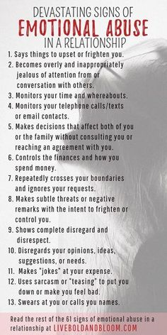 Learn to recognize the signs of emotional abuse in relationships so you can start reclaiming your power and self-esteem. psychology 61 Devastating Signs Of Emotional Abuse In A Relationship Narcissistic Abuse Recovery, Narcissistic Behavior, Narcissistic Sociopath, Narcissistic Personality Disorder, Sociopath Traits, Codependency Recovery, Narcissistic People, Toxic Relationships, Healthy Relationships