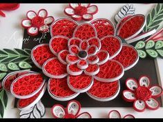 Quilling Made Easy # How to make Beautiful Flower design using Paper Art Quilling -Paper Quilling - YouTube