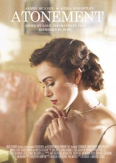 Atonement - Fledgling writer Briony Tallis, as a 13-year-old, irrevocably changes the course of several lives when she accuses her older sister's lover of a crime he did not commit.
