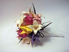 vania passos origami   SE MEU JARDIM DER FLOR...: Buquê de noiva