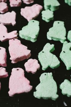 Homemade Peeps! Minus the alarming color found in grocery store versions.