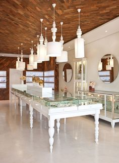 Lapis Lazuli's new store, nestled in KwaZulu-Natal's Kloof, is a treat for anyone who appreciates thoughtful decor and interior design. Decor, Store Decor, Commercial Design, Jewelry Store Interior, Home, Store Interiors, Shop Interiors, Interior Design, Jewelry Store Design