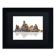 Marlene Watson 'Washington DC Skyline' Framed Canvas Art