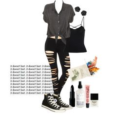 Can i leave? Can i grow? by red-foxess-and-wolf on Polyvore featuring Evil Twin, Converse, Aéropostale and Butter London