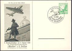Germany, German Empire, 09.01.1938, Dessau, 2. Briefmarken-Schau des Sammlervereins Merkur, 5 Pfg.-GA-Privatpostkarte, mit Sonderstempel, ungebr., I (Mi.-Nr.PP142/C23). Price Estimate (8/2016): 10 EUR.