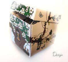 Doboz alakú esküvői meghívó, egyedi grafikával Decorative Boxes, Container, Design, Home Decor, Decoration Home, Room Decor, Home Interior Design, Decorative Storage Boxes
