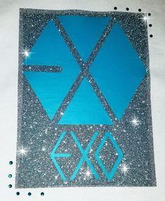 EXO KPOP T-shirt (Sehun, Baekhyun, Chanyeol, Kai, Lay, Suho, Do, Xiumin, Chen) Glitter & Bling Tee by KpopOriginals on Etsy