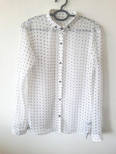 Vintage Polka dot  #polkadot #sheer #shirt