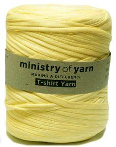 Bright yellow t-shirt yarn recycled Australia trapillo zpagetti
