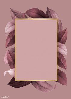 Hintergrund gold Golden frame on a pink leafy background vector Photo Pour Instagram, Instagram Frame, Story Instagram, Instagram Background, Flower Backgrounds, Phone Backgrounds, Pink Wallpaper Backgrounds, Framed Wallpaper, Iphone Wallpaper