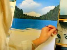 How to paint water, for oceans, lakes, and rivers, easy technique for the beginner! - YouTube
