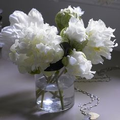 Peonies smell so good and look great no matter how you style them.