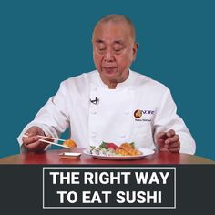 The right way to eat sushi, according to renowned Japanese chef Nobu Matsuhisa👨🍳 #chef #cooking #food #waiter #waitress #time #love #smile #music #life #work #cook #uniform #kitchen #job #pastry #restaurant #masterchef #topchef #chefs #hotel #bitcoin #blockchain #ecommerce #fashion #tips #news #switzerland #suisse #svizzera ➡️  https://buycook.shop https://video.buffer.com/v/5a86ac5cf447021672293452