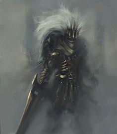 The Nameless King, firstborn son of Gwyn, was a god of war Soul Saga, Dark Souls Art, Dark Blood, Storm King, Knight Art, Happy Soul, Illustration Mode, Game Concept Art, Fantasy Armor