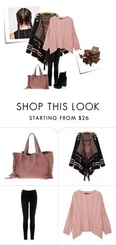 """""""No more chocolate."""" by thaliatria ❤ liked on Polyvore featuring Post-It, Valentino, Warehouse and MANGO"""