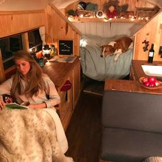 This is one of the best bus conversions I've seen! The interior looks so warm and comforting, it really makes me want to try out the #vanlife.