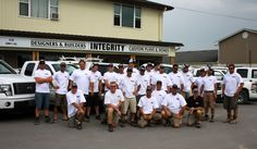 Integrity Construction Services, Inc. Team--- My hubby is 2nd from left in top row :)
