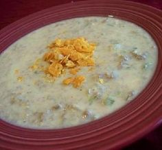 """Weight Watchers Slow Cooker Cheeseburger Soup: """"MMMMMM! What a fabulous comfort food that won't leave you feeling guilty."""" -Julie F"""