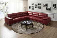 J&M Furniture | J&M Futon | Modern Furniture Wholesale | New York NY | New Jersey NJ :: Premium Leather Sectionals :: Valentino Premium Sectional