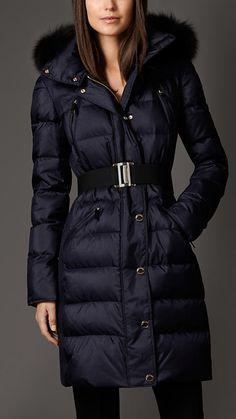 Burberry Fur Trim Puffer Coat on shopstyle.co.uk