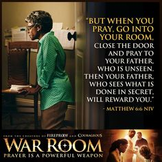 10 Ideas to Create Your Own War Room | The movie, Prayer times and ...