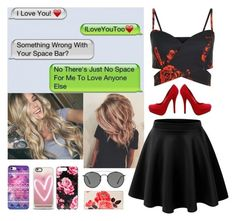 """""""Cute Text Messages ❤"""" by kaileewhaley13 ❤ liked on Polyvore featuring Love Quotes Scarves, Ray-Ban, Casetify and Kate Spade"""