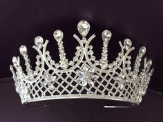 Silver Tiara Bridal Crown Crystal Wedding Tiara Wedding Hair | Etsy Bridal Crown, Bridal Tiara, Bridal Headpieces, Barefoot Sandals Wedding, Wedding Gloves, Wedding Veils, Shoulder Necklace, Silver Tiara, Royal Jewels