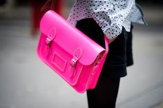 Pink Satchel | Your Ultimate School Bag, Based on Your Sign | http://www.hercampus.com/style/your-ultimate-school-bag-based-your-sign