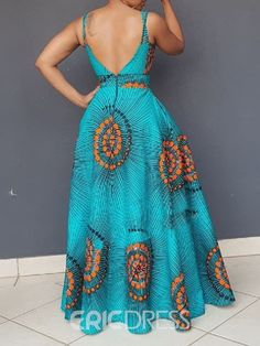 Ericdress African Fashion Sleeveless Floor-Length Expansion Color Block Dress Source by mzaud dress modern Short African Dresses, Latest African Fashion Dresses, African Print Fashion, Women's Fashion Dresses, Fashion Fashion, South African Traditional Dresses, Moda Afro, African Attire, Block Dress