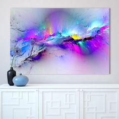 How to Discount 28% Original Price US $7.88 CHENFART Wall Art Canvas Painting Abstract Unreal Pink Cloud Landscape Pictures For Living Room Home Decor No Frame without driving yourself crazy #Painting#Calligraphy