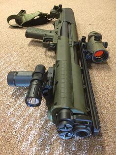 KSG shotgun, home defense, guns, 12gauge, tactical, light weight ammo holder