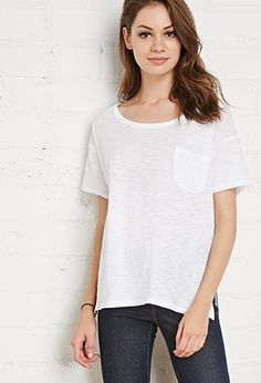 Slub Knit Pocket Tee | Forever 21 - 2000173134