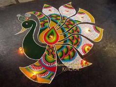 25 Best And Simple Rangoli Design For Diwali 2018 - Happy Diwali Shayari, Wish, Image, Cards And Status In Hindi 2018 Rangoli Designs Peacock, Simple Rangoli Designs Images, Rangoli Border Designs, Colorful Rangoli Designs, Rangoli Designs Diwali, Beautiful Rangoli Designs, Diwali Rangoli, Lotus Rangoli, Indian Rangoli