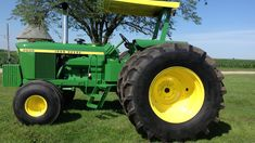 New tires. Roll bar and canopy John Deere 6030, Old John Deere Tractors, Air Ride, New Tyres, Number One, Canopy, Engine, Restoration, Auction