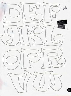 sonjareidenjoy - 0 results for lettering fonts Letter Patterns, Felt Patterns, Embroidery Patterns, Creative Lettering, Hand Lettering, Motifs D'appliques, Alphabet Templates, Applique Letters, Drawing Letters