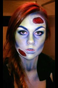 Halloween zombie makeup!