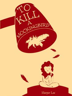 To Kill a Mockingbird Literature Poster, Modern Literature Print, Book Poster, Reading Wall Art on Etsy, $20.00
