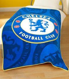 Chelsea FC Football Fleece Bed Sofa Throw Blanket Large