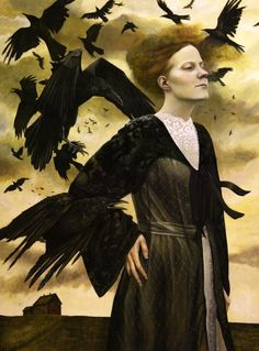 """Crows Ravens:  """"Crows' Song,"""" Andrea Kowch."""