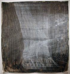 Sam Messenger GETHESEMANE'S VEIL, 2009 Pen and white ink, inkwash, and poured ink, vinegar, salt water on paper