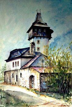 Watercolor Castle Iveta Axmanová