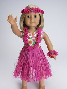 Trendy Dolls - 6 pc Hawaiian Outfit for 18 inch American Girl Doll, $13.00 (http://www.mytrendydoll.com/doll-clothes/6-pc-hawaiian-outfit-for-18-inch-american-girl-doll/)