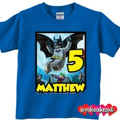 Custom Lego Batman Birthday Shirt