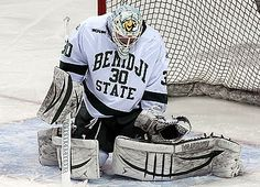 The Bemidji State University men's hockey team scored twice in the first seven minutes of play and goaltender Andrew Walsh (Jr., Dawson Creek, British Columbia) stopped 32 of 33 shots faced, as the Beavers earned a 2-1 victory over No. 4 Ferris State University Saturday to cap 2014 Athletic Hall of Fame weekend at Sanford Center. Bemidji State University, Men's Hockey, Dawson Creek, One Seven, Graduate Program, Beavers, British Columbia, Nhl, Shots