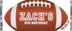 Football Birthday Candy Bar Wrapper